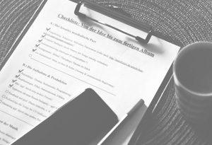 Checkliste bis zum fertigen Album